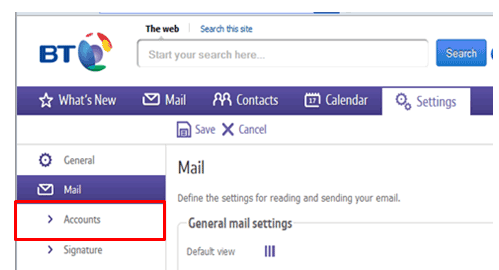 how to get a bt email address
