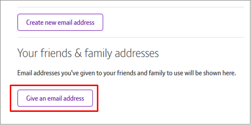 Create a new BT Mail address