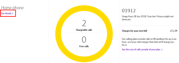 How can I see my recent calls and charges? | BT help