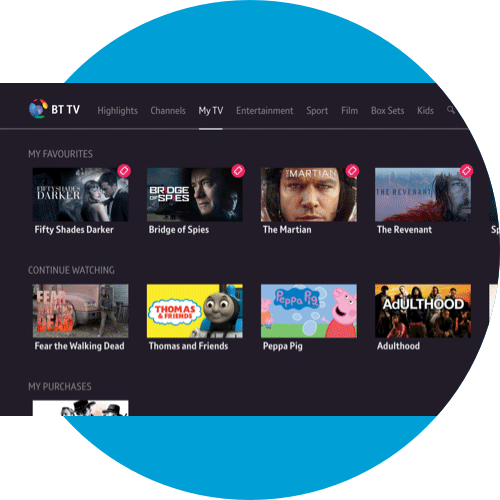 About My TV on the BT TV App - Apple TV | BT help