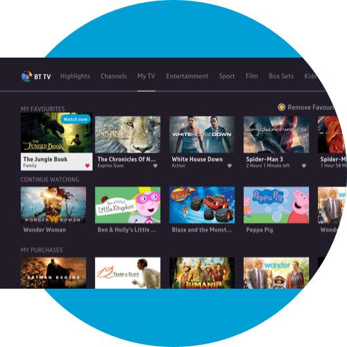 About My TV on the BT TV App - Samsung TV | BT help