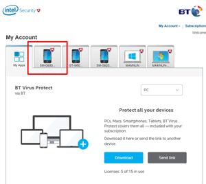 BT Virus Protect app | BT help