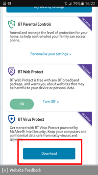 BT Virus Protect app | BT help