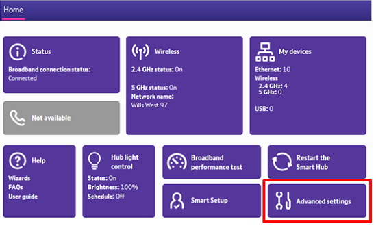 How can I set up or change the admin password on my BT Hub