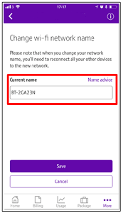Changing the wireless password on your BT Hub
