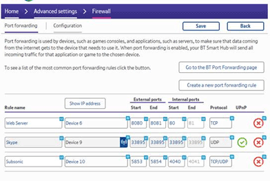 How do I set up port forwarding on my BT Hub? | BT help