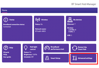 How do I turn wi-fi on and off on the BT Hub? | BT help