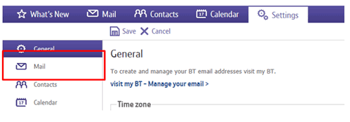 Setting up auto-forward in BT Mail | BT help