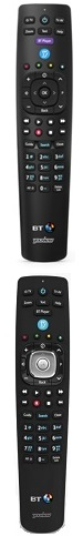 BT TV remote control